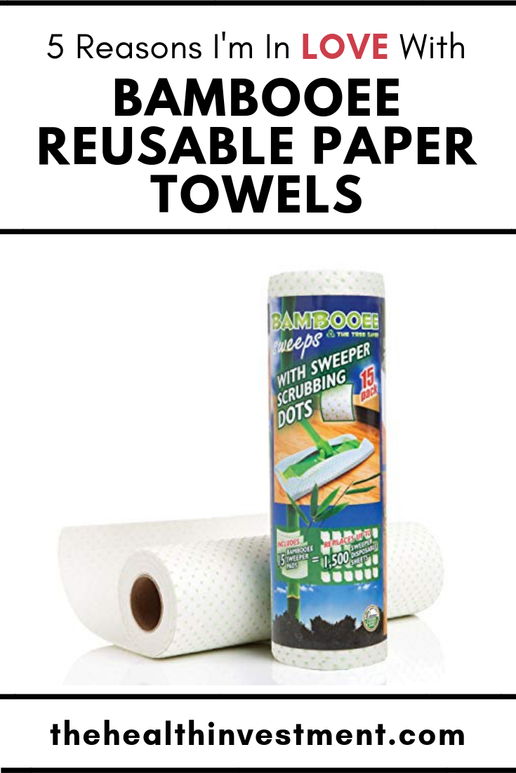 Picture of Bambooee reusable paper towels below title - 5 Reasons I'm In Love With Bambooee Reusable Paper Towels