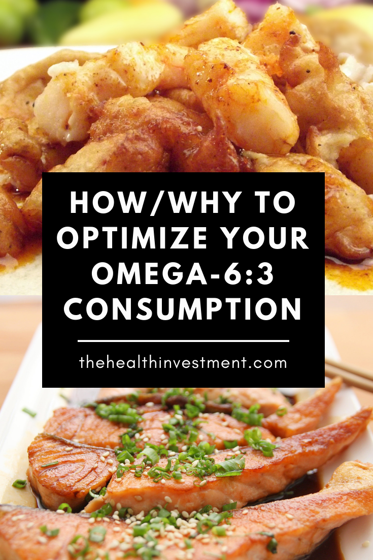 Picture of fried fish above picture of grilled salmon - Title: How/Why To Optimize Your Omega-6:3 Consumption