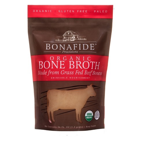 Picture of Bonafide Provisions beef broth in a bag
