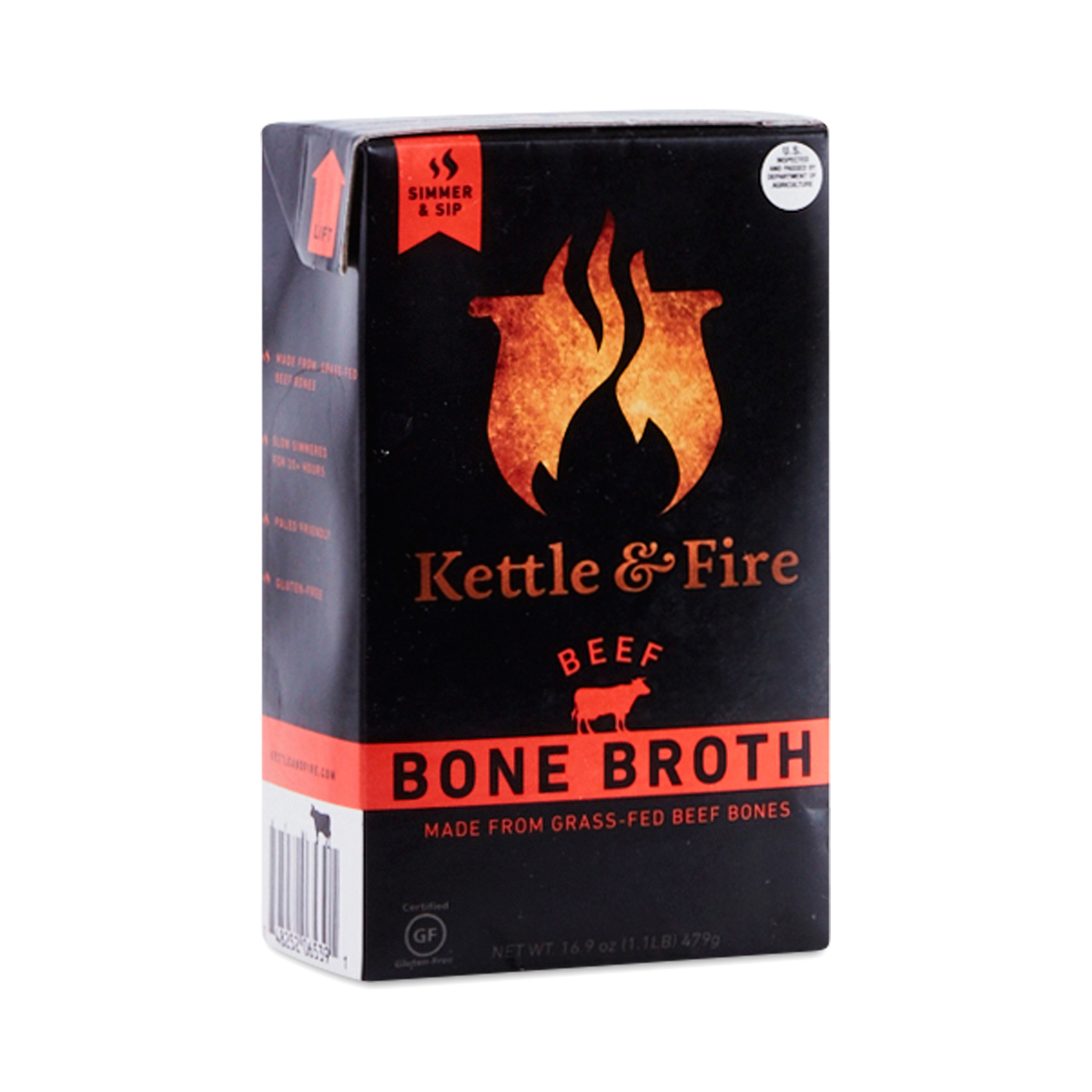 Picture of a carton of Kettle and Fire Bone Broth