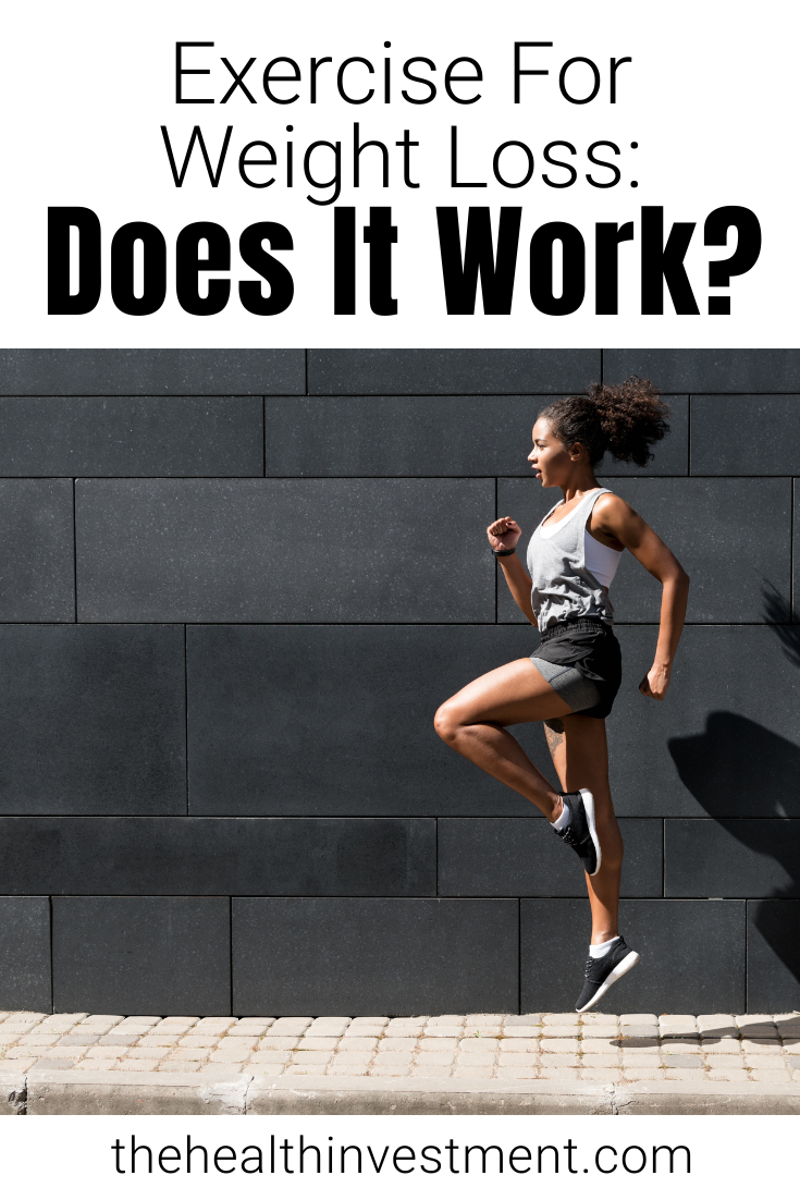 Picture of woman jumping under title - Exercise for weight loss: Does it work?