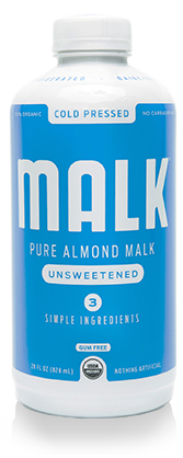 malk pure almond milk unsweetened