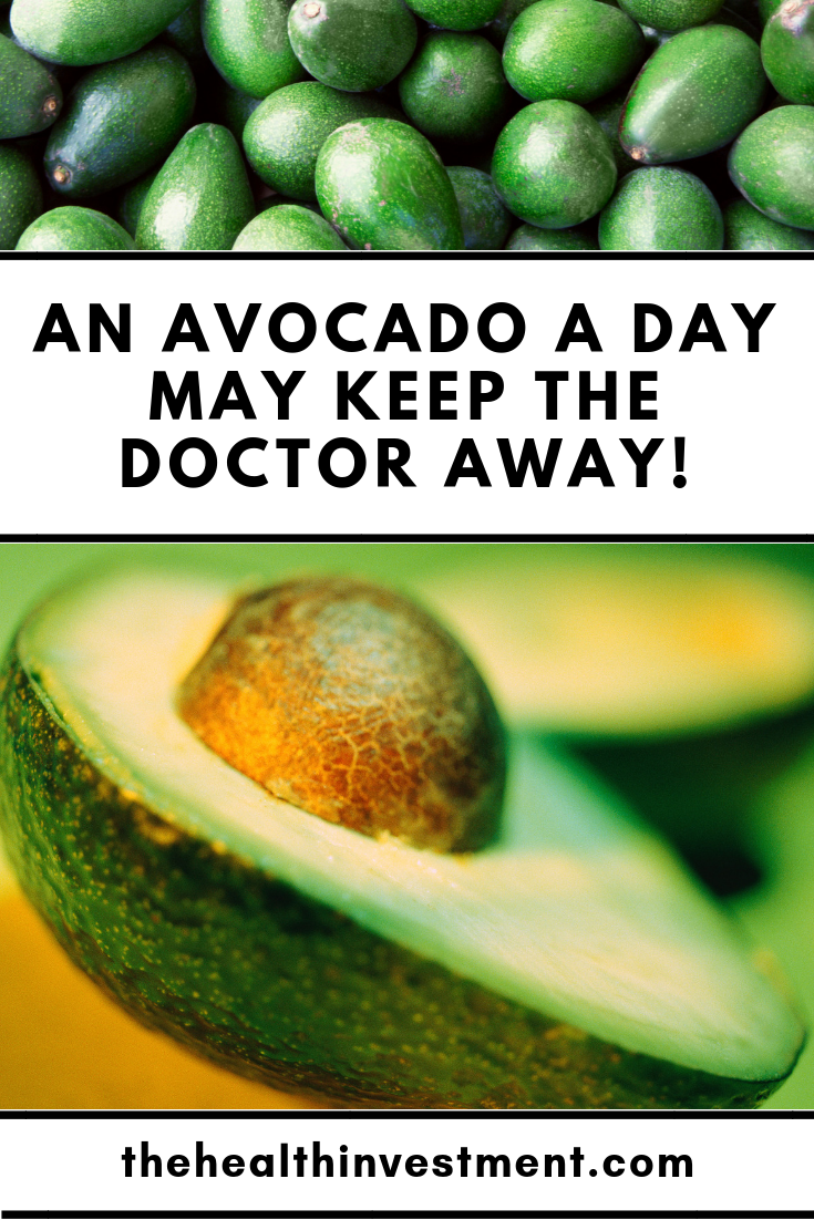 Pictures of avocados surrounding title - An Avocado A Day May Keep The Doctor Away!