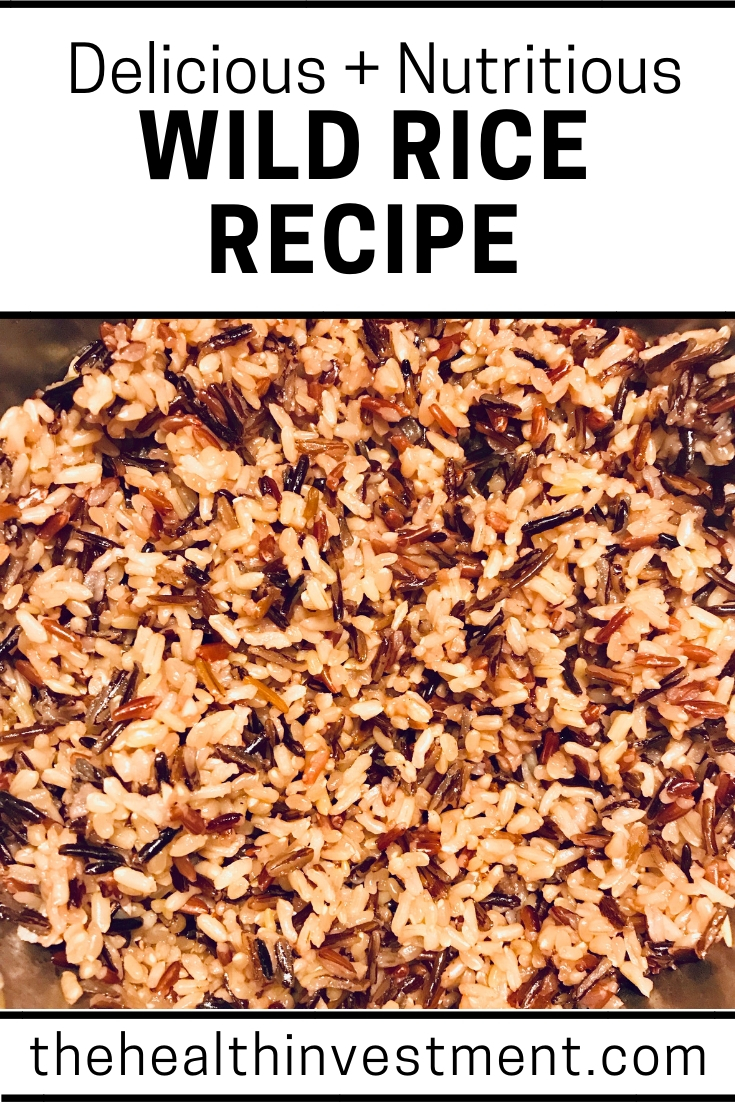 Picture of wild rice above title - Delicious + Nutritious Wild Rice Recipe