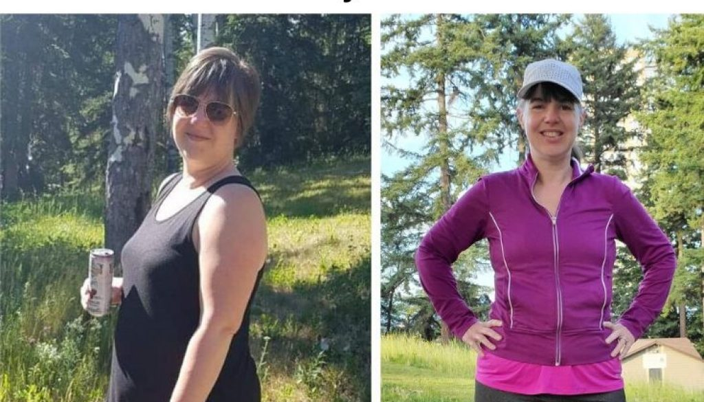 Picture of Cathy Jamison before and after below title - How To Lose 50 Pounds—And Keep 'Em Off!
