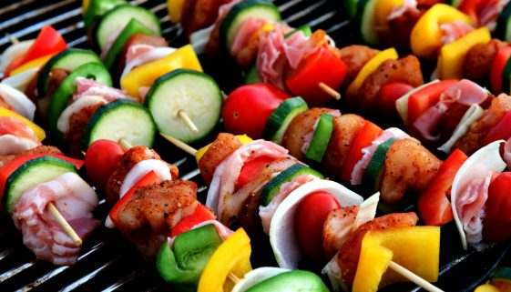 Picture of kebabs on the grill
