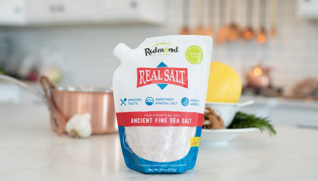 Picture of Redmond Real Salt on a counter