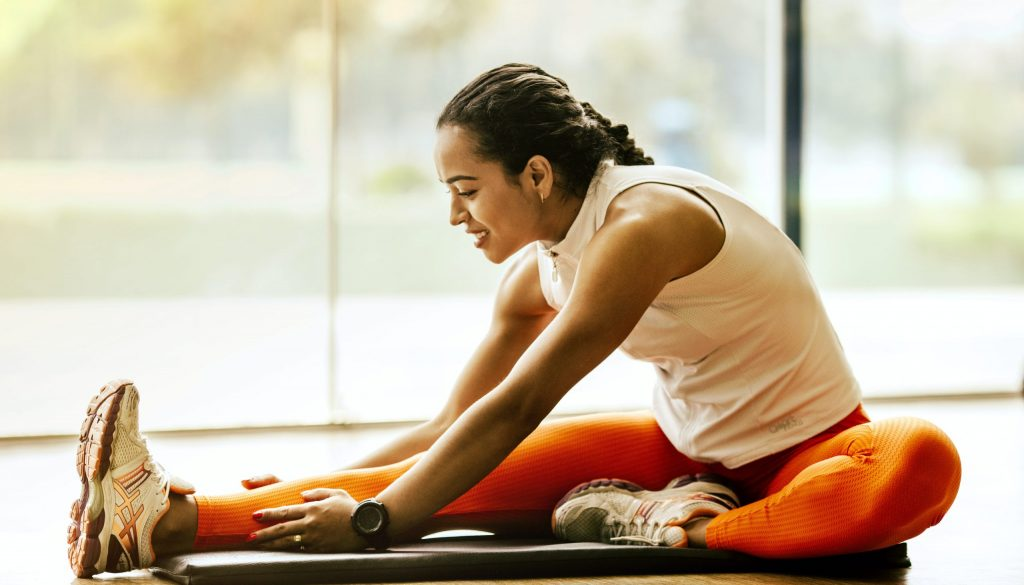 Picture of woman stretching