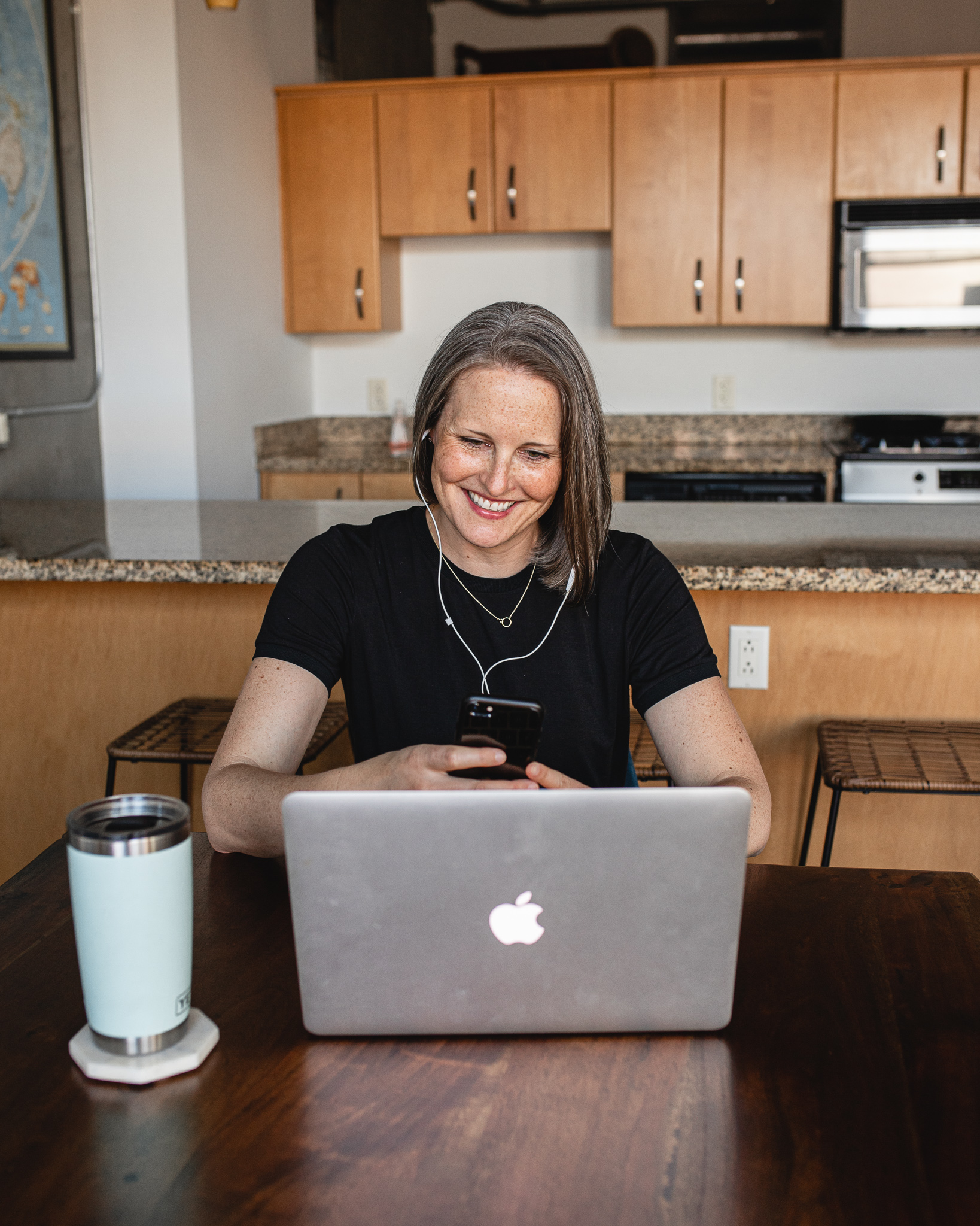 Brooke Simonson, Nutritionist, researching at her desk