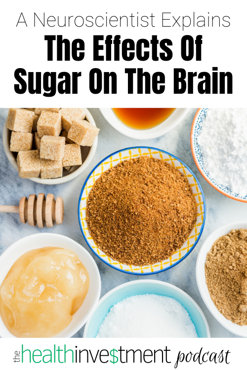 Picture of bowls of sugar below title: A Neuroscientist Explains The Effects Of Sugar On The Brain