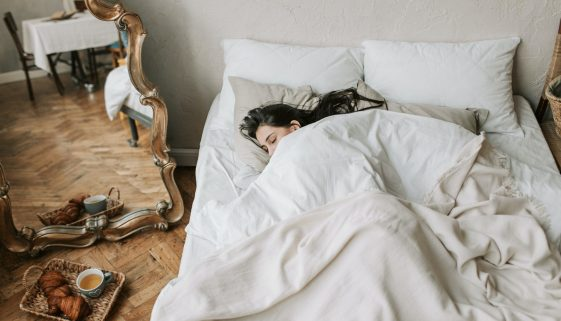 Image of woman sleeping in bed